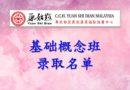 马来西亚张钊汉原始点推广中心 – 原始点医学基础班(第26期)- 基础班录取名单公告